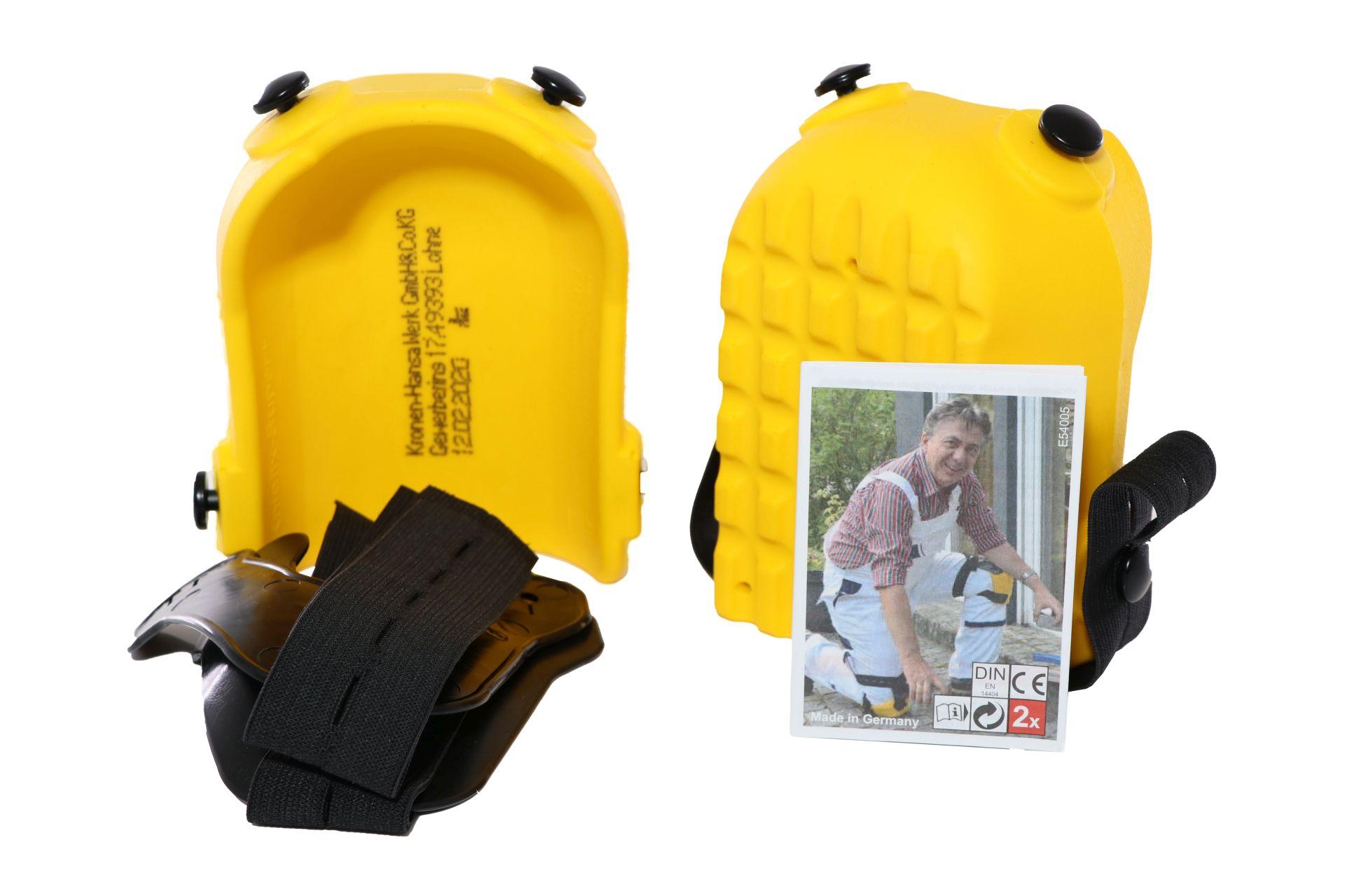 HUFA Knieschoner in Kastenform, durchstichfest, DIN EN 14404, gelb
