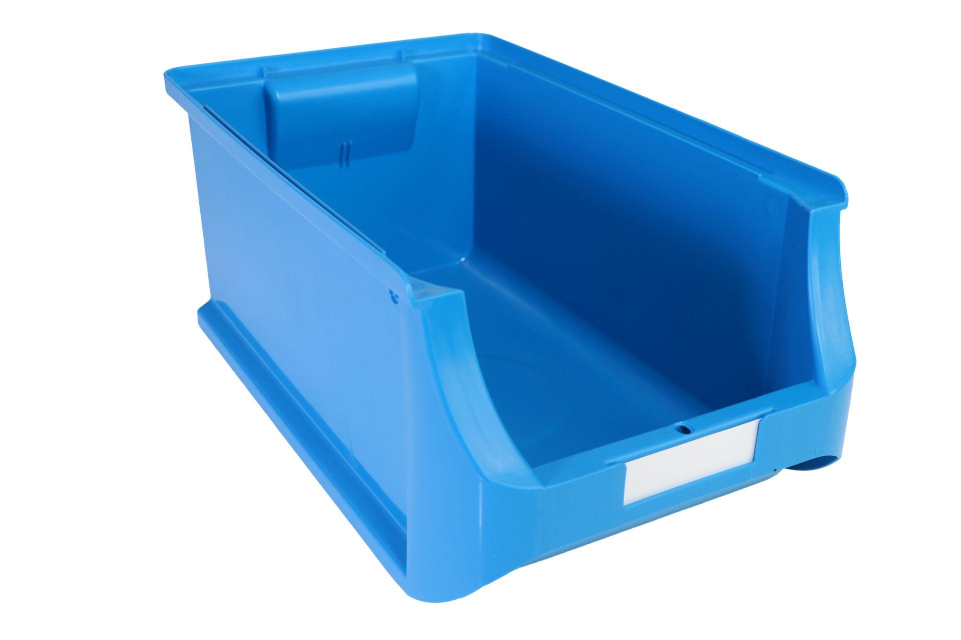 Allit Sichtlagerkasten ProfiPlus Box 4, aus PP, stapelbar, blau, 1 Karton = 12 Stück mit Etiketten