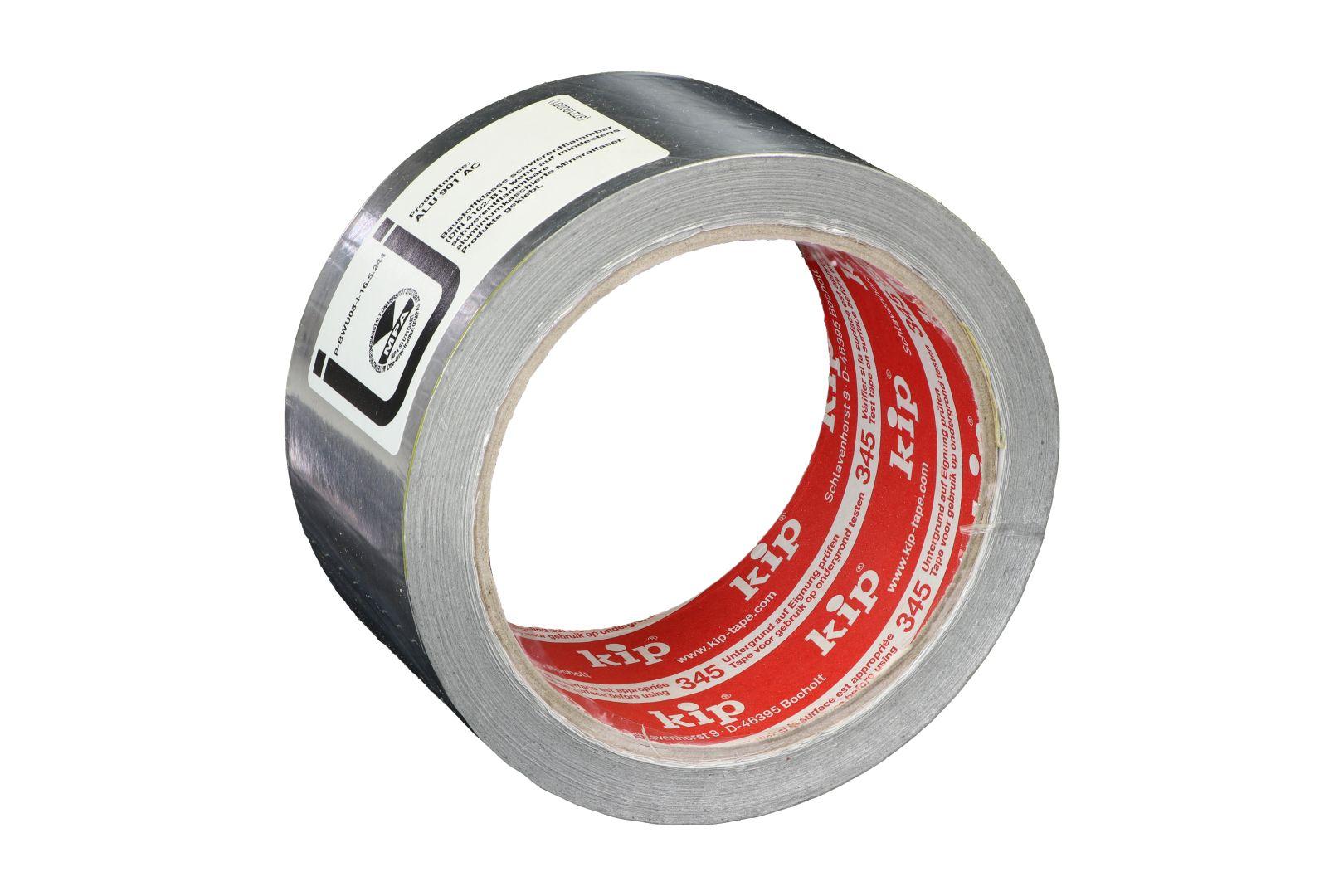 KIP 345-31, Aluminiumklebeband mit Liner, Aluband, 50 mm x 25 m