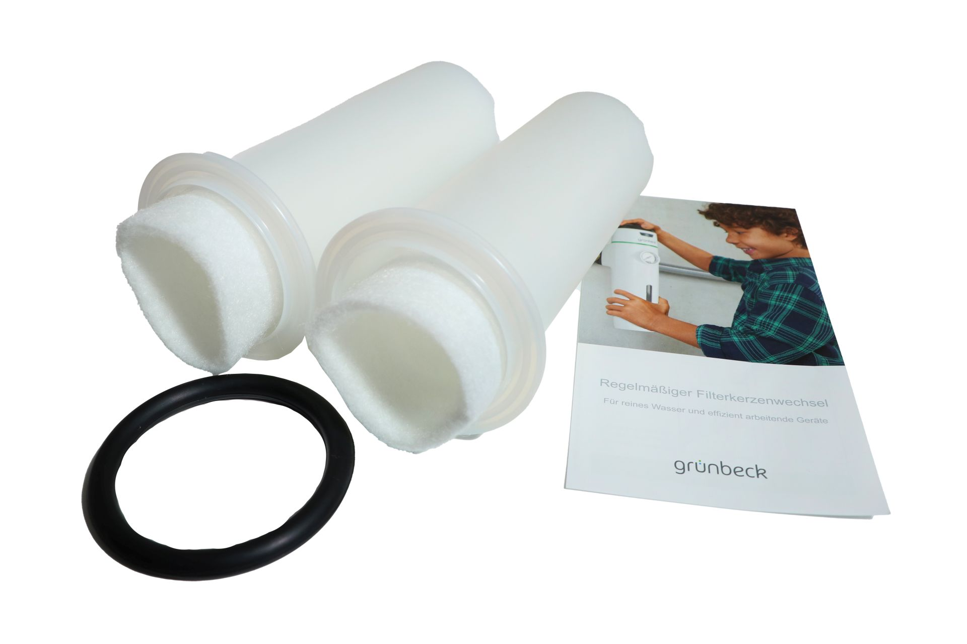 grünbeck GENO-Ersatzfilterkerzen, 80 µm, Größe 1, mit Schutzglocke und O-Ring, für grünbeck-Wasserfilter, 2-er Pack
