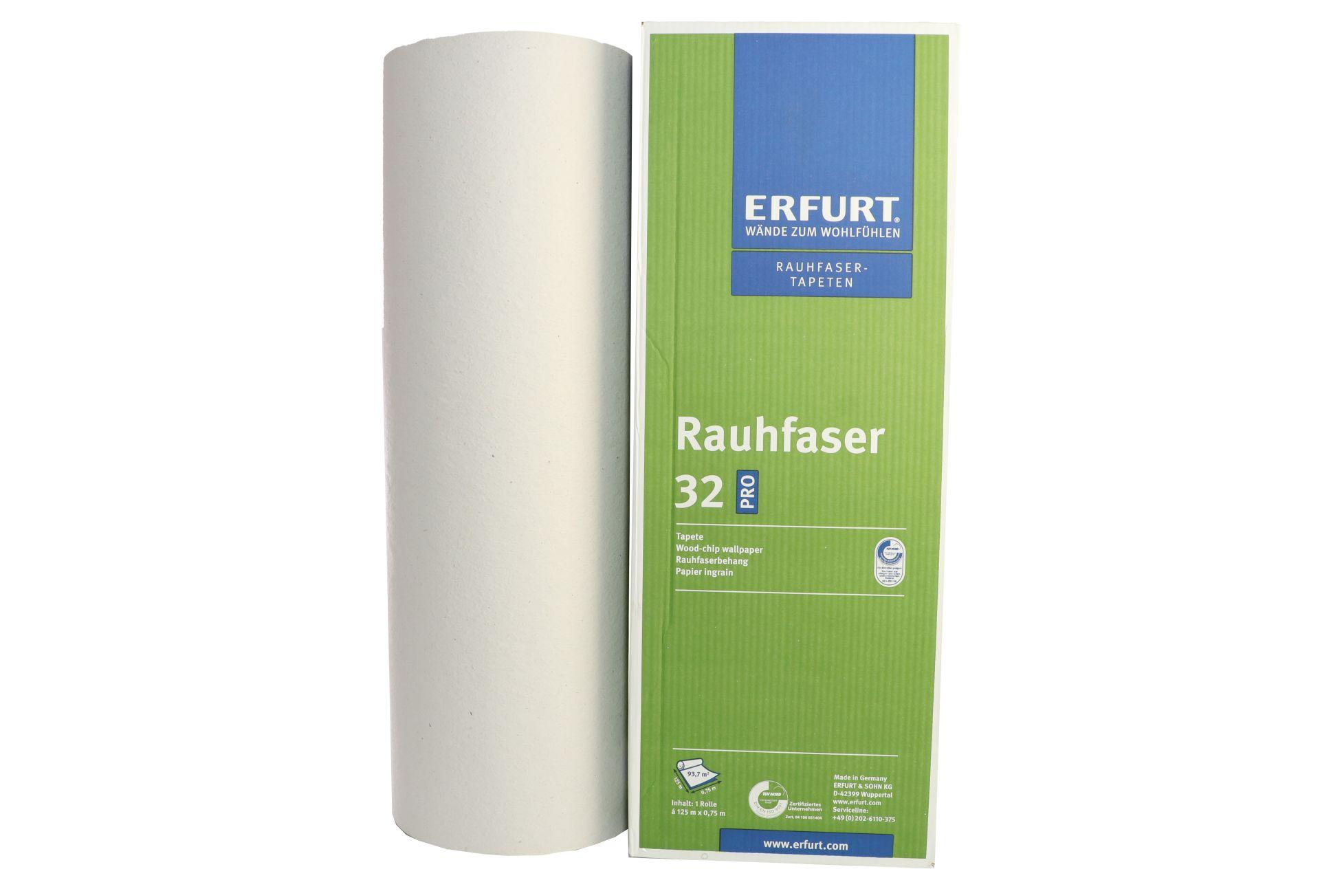 ERFURT Rauhfaser Tapete 32 Pro, elegante Struktur, 125 x 0,75 m, ausreichend für 93,75 m², 1 Großrolle