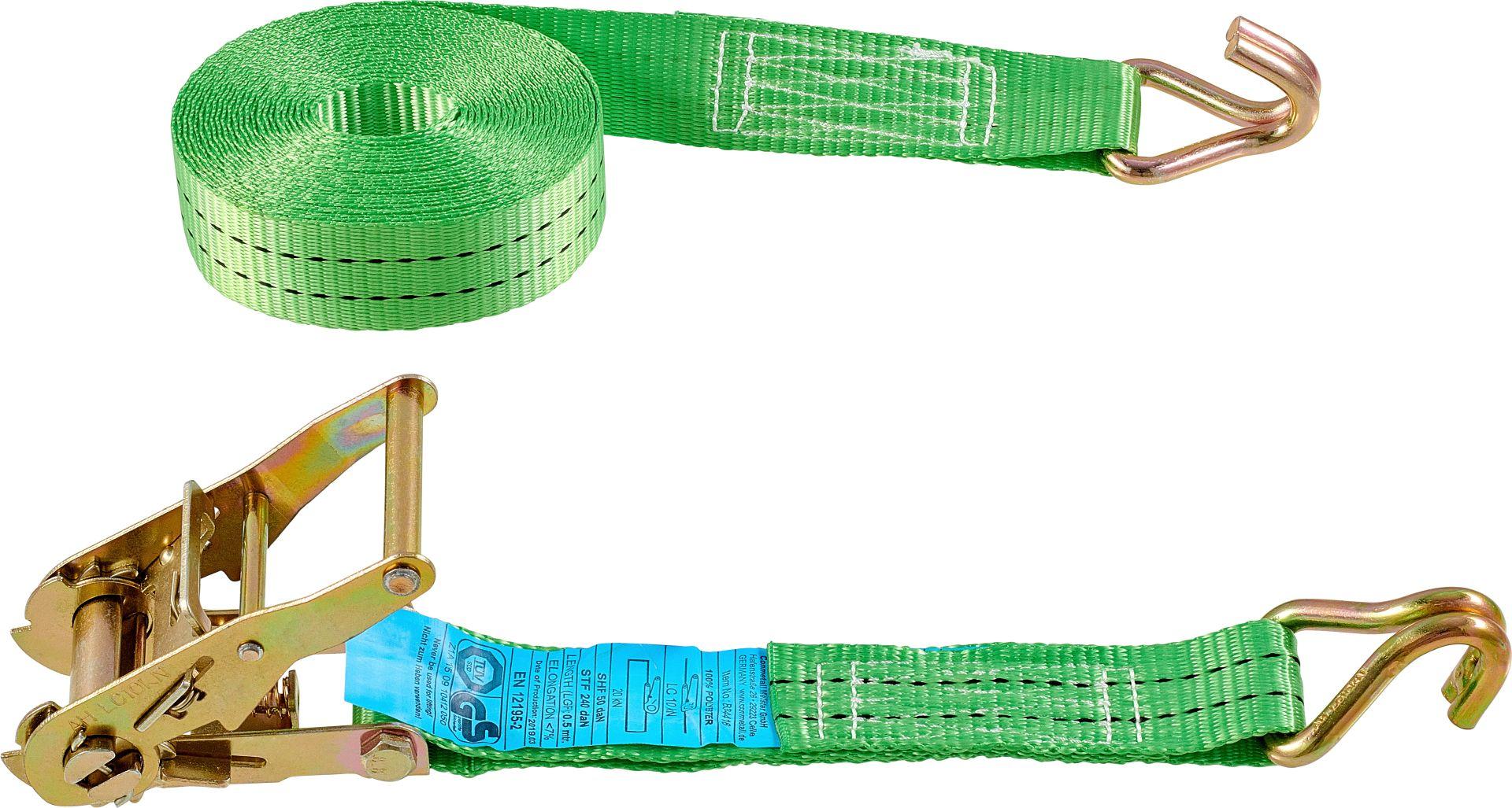 CONNEX Zurrgurt mit Ratsche und Haken, 6 m x 35 mm, bis 2000 kg