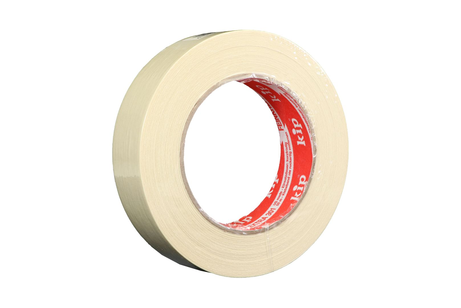 KIP 301-30 Feinkrepp extra, Kreppband, beige, 30 mm x 50 m