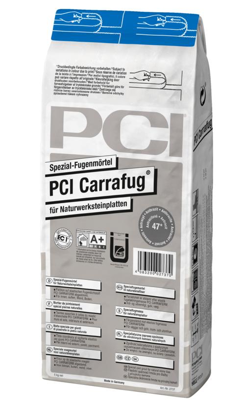 PCI Carrafug, Spezial-Fugenmörtel für Naturwerksteinplatten, Nr. 25 carraraweiß, 5 kg