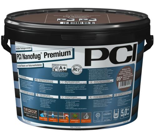 PCI Nanofug Premium, variabler Flexfugenmörtel für alle Fliesen und Natursteine, Nr. 47 anthrazit, 5 kg
