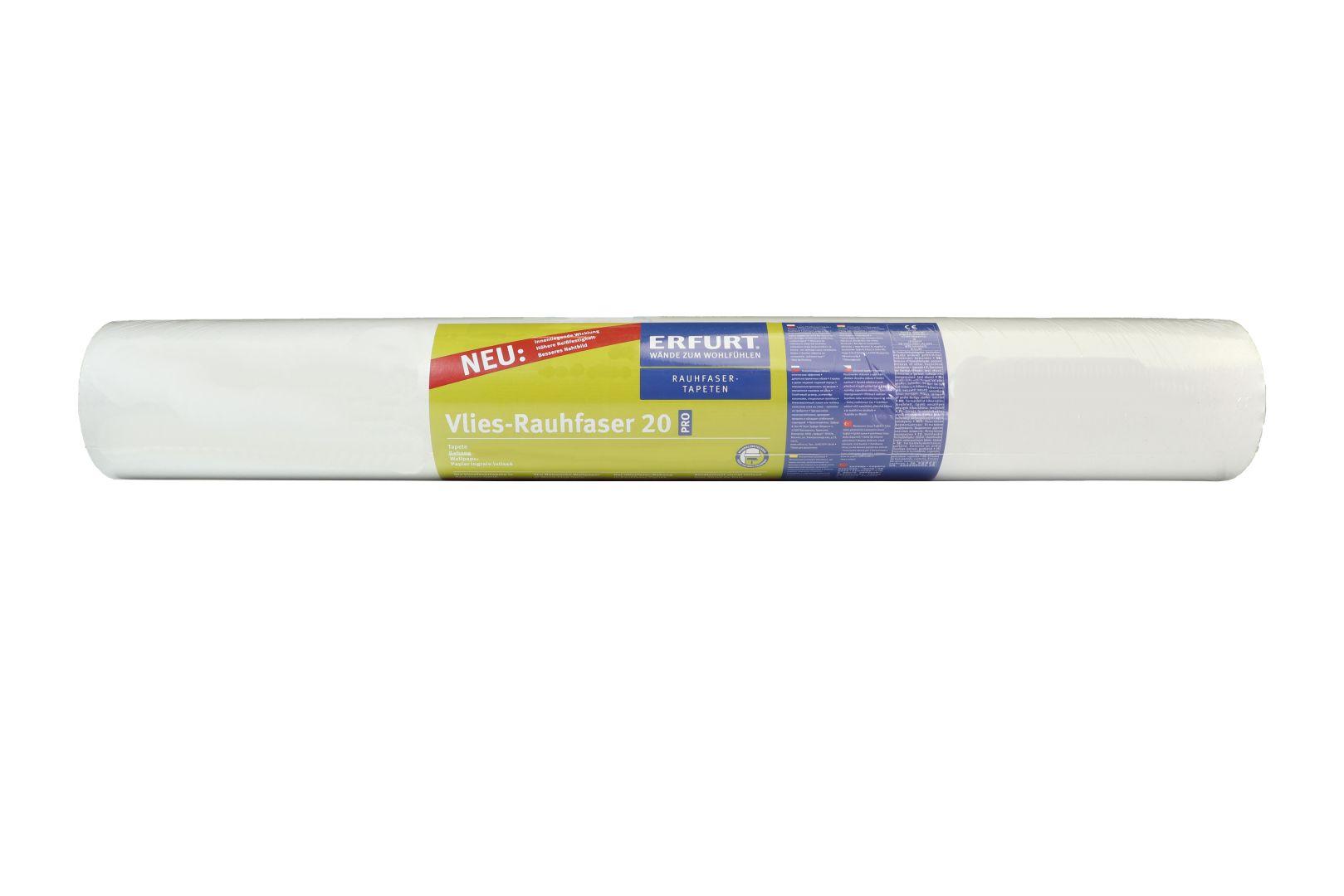 ERFURT Vlies-Rauhfaser Tapete 20 Pro, feine Struktur, 25 x 0,75 m, ausreichend für 18,75 m², Rolle