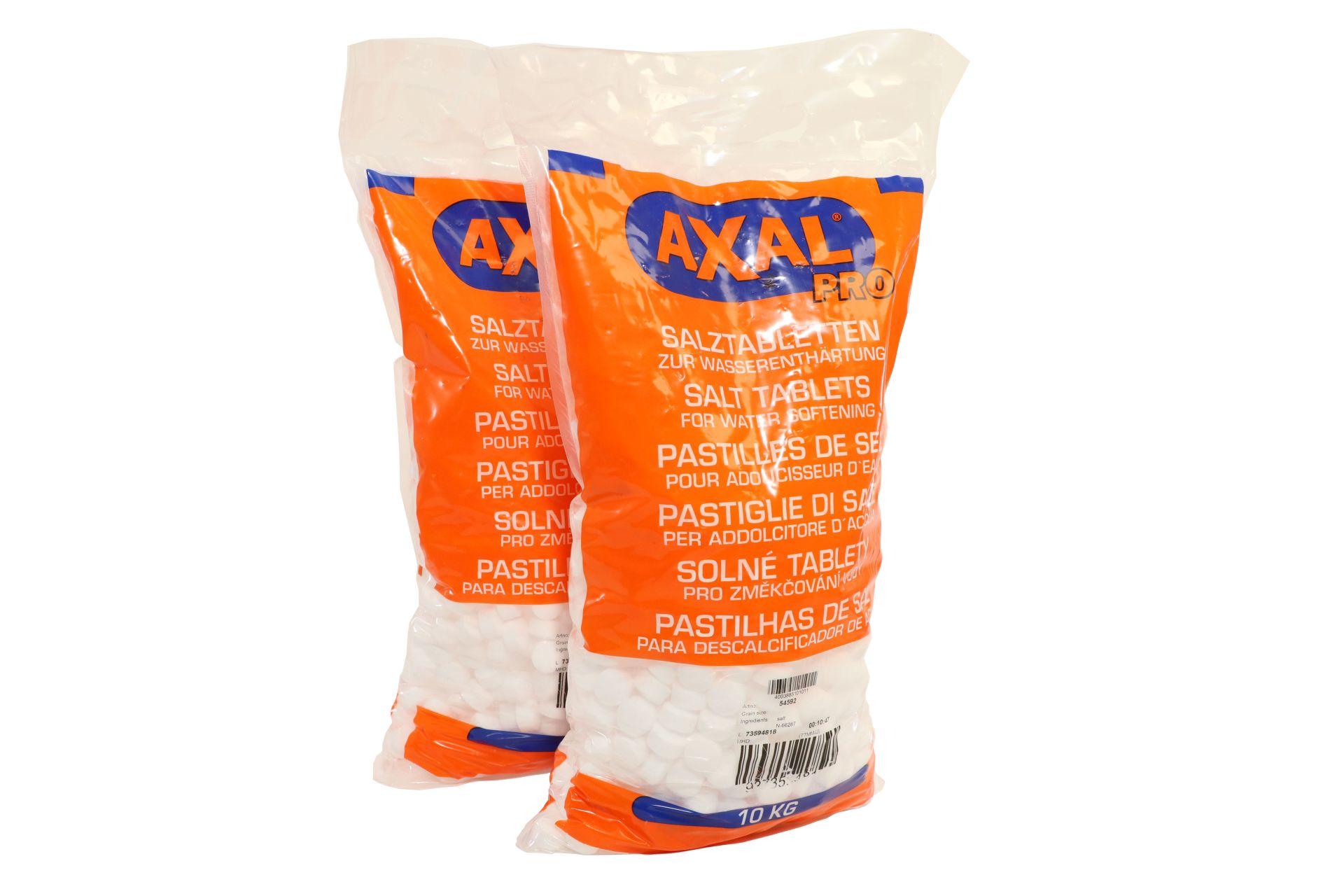 AXAL PRO Regeneriersalz, Tabletten zur Wasseraufbereitung, 20 kg (2 x 10 kg)