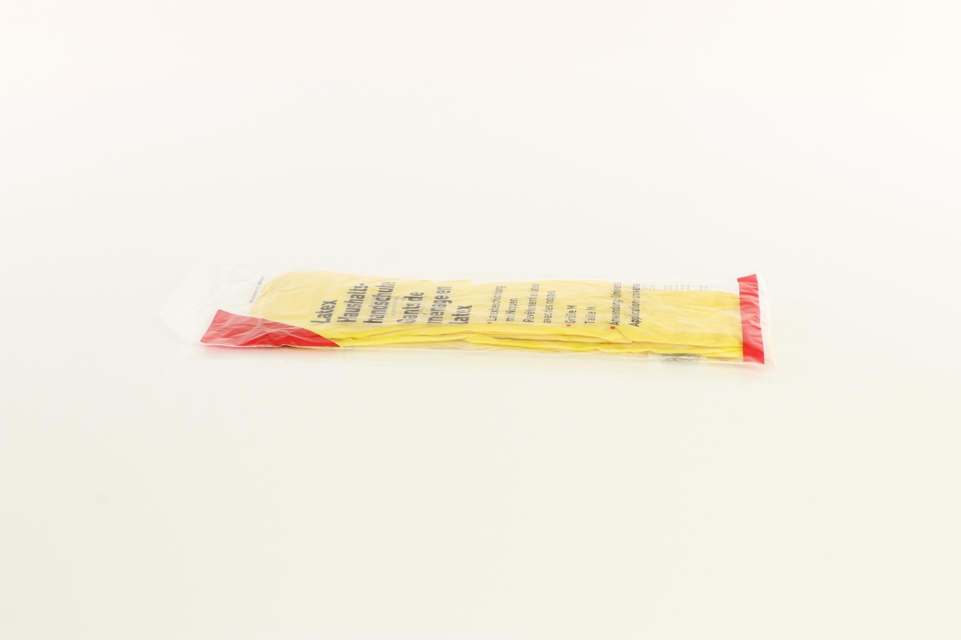 Latex Haushaltshandschuhe, gelb, Größe M