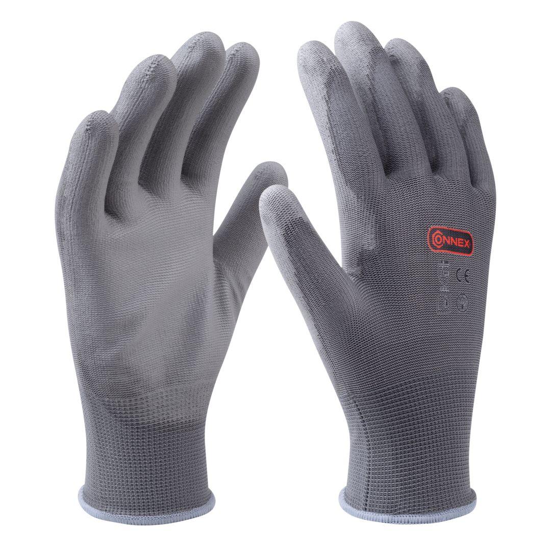 CONNEX Handschuh Maler, grau, Größe 9