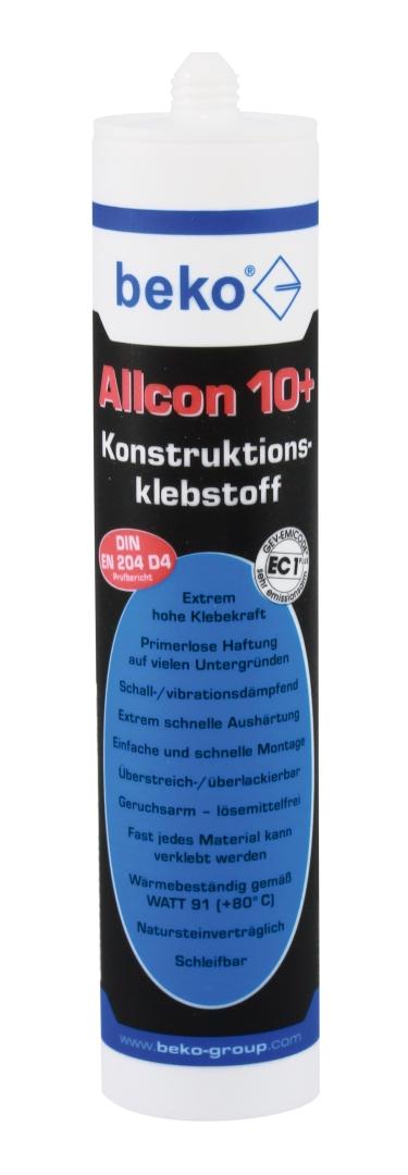 beko Allcon 10+ Konstruktionskleber, MDI-haltig, grau, 310 ml