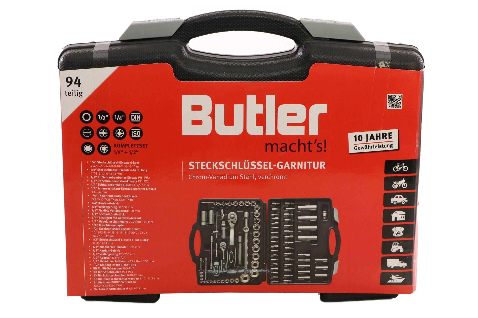 Butler macht's! Steckschlüssel-Garnitur, 94-teilig