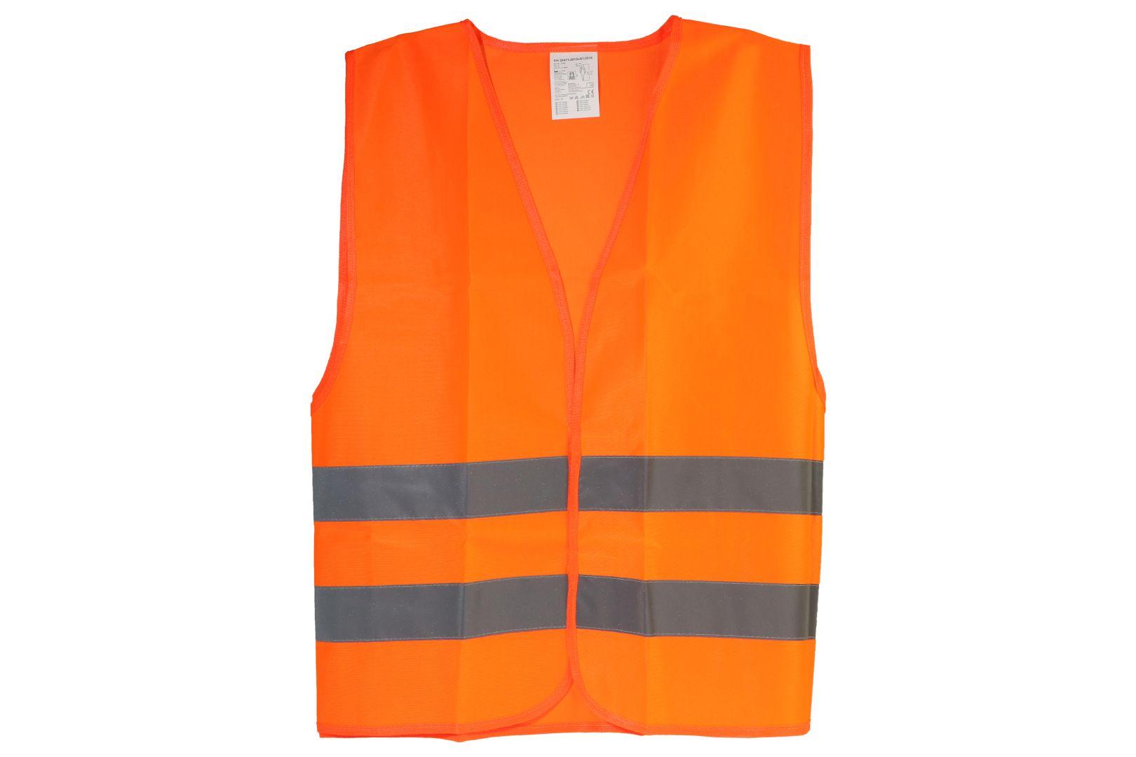 cartrend Warnweste, Pannenweste, EN ISO 20471, orange, Universalgröße XL