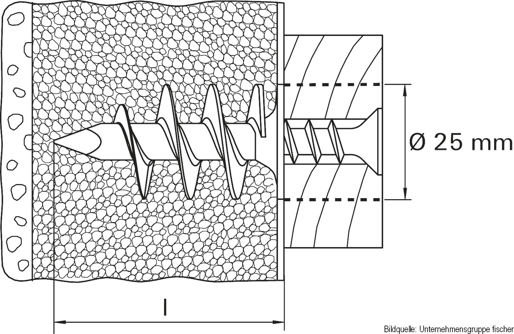 fischer Dämmstoffdübel FID 90, 25 Stück