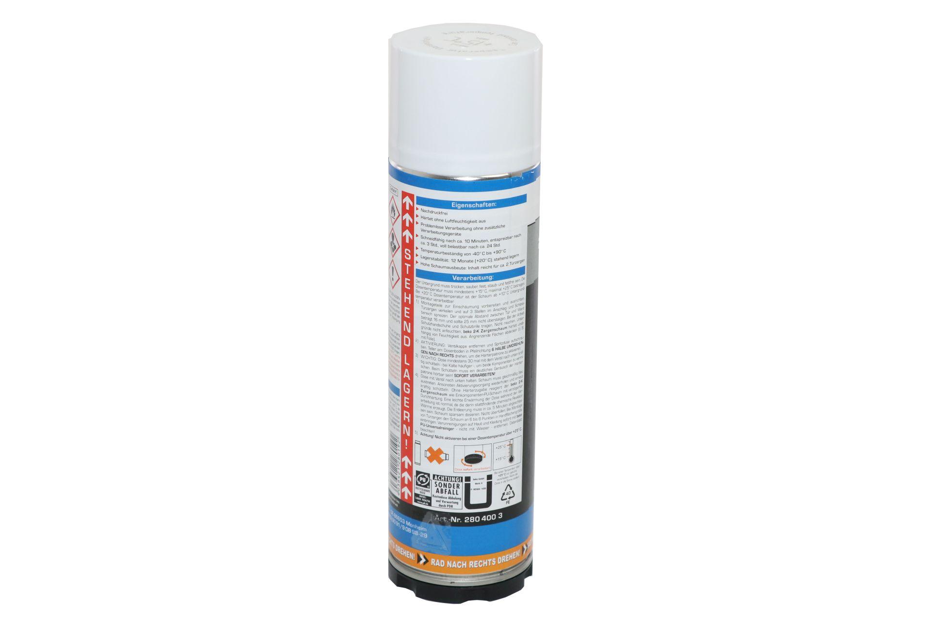 beko Zargenschaum 2-K, ausreichend für 2 Türzargen, 400 ml