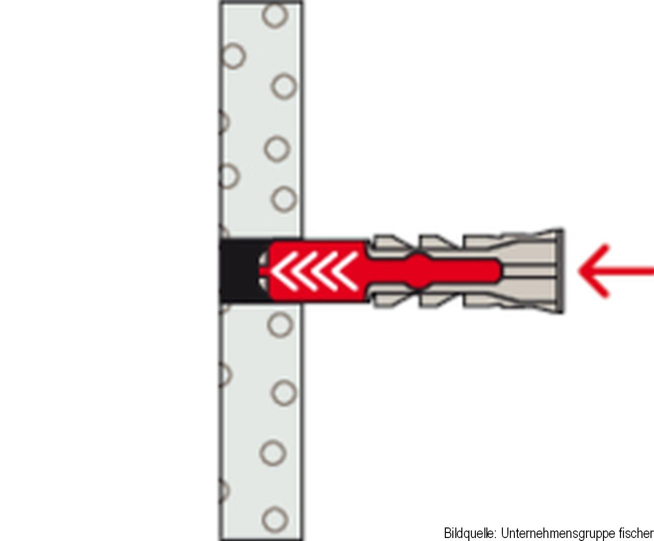 fischer Allzweckdübel DUOPOWER 8 x 40, 18 Stück