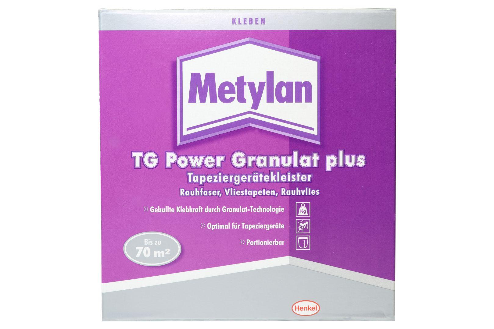 Metylan TG Power Granulat plus, Tapeziergerätekleister, Ausbeute ca. 70 m², 500 g