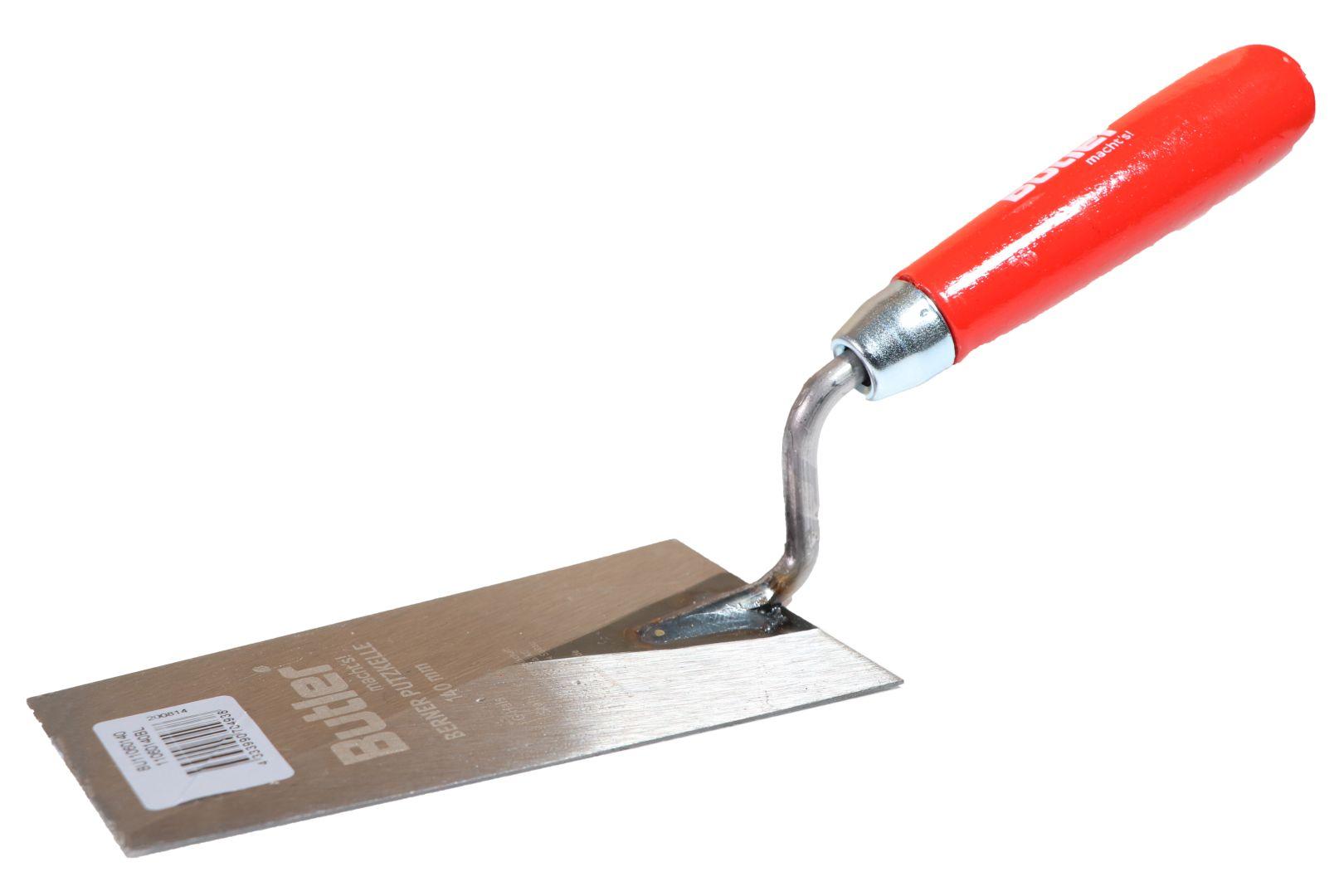 Butler macht's! Berner Putzkelle, gehärtetes Stahl, Holzgriff, Blattlänge 160 mm