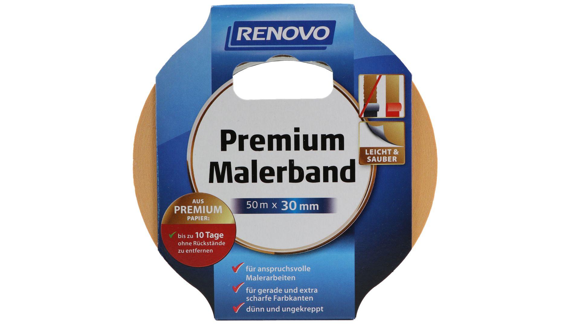RENOVO Premium Malerband, 50 m x 30 mm