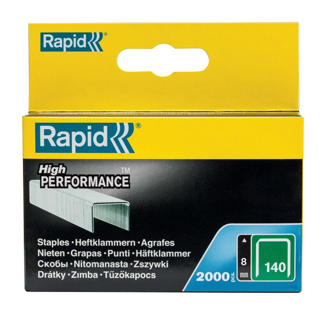 Rapid High PERFORMANCE Heftklammern, Typ 140, 8 mm Schenkellänge, 2.000 Stück