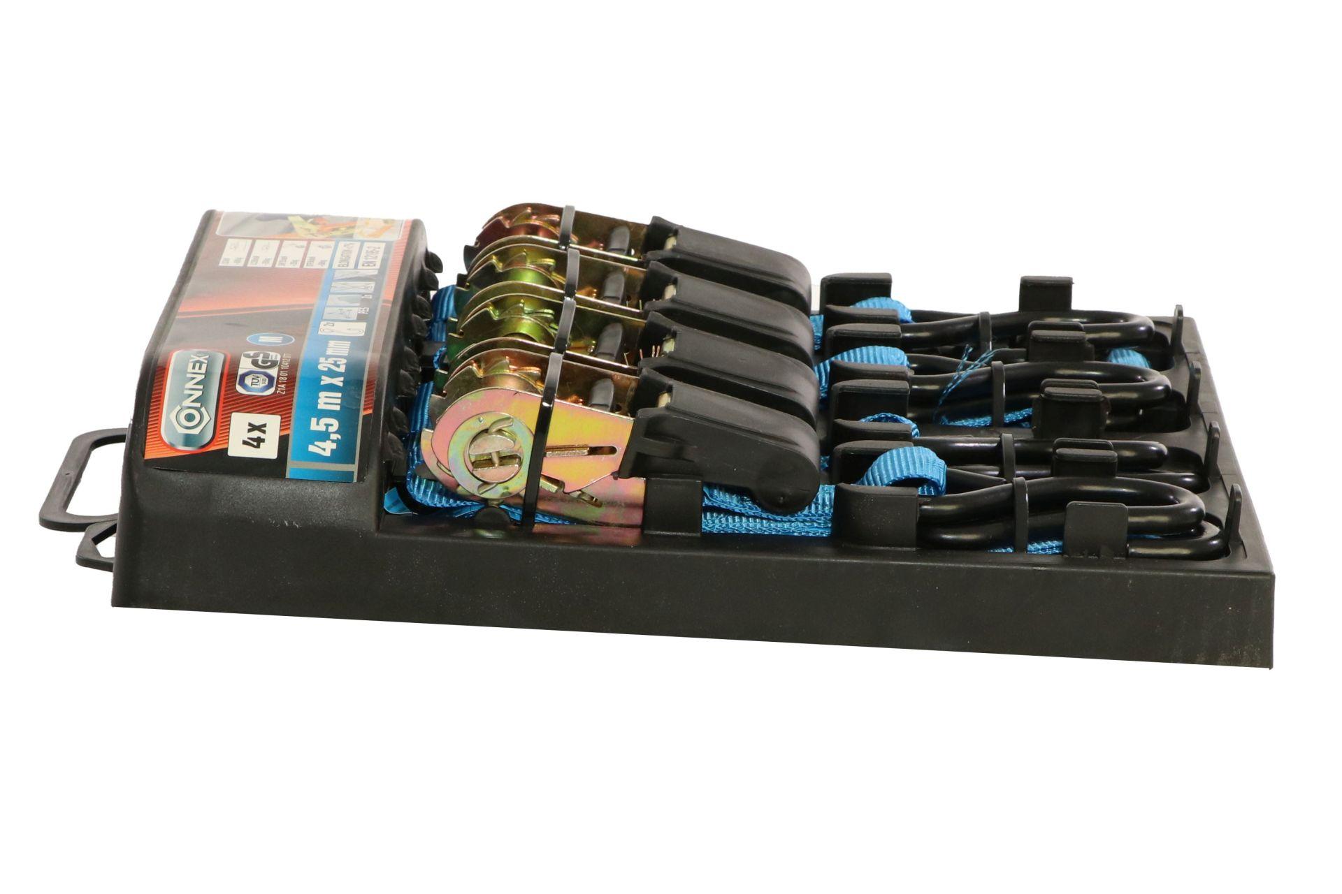 CONNEX Zurrgurt Set 2 teilig, 4,5 m x 25 mm, 4er Set