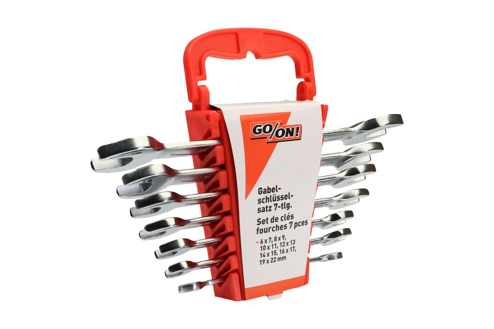 GO/ON Gabelschlüsselsatz, Schlüsselgrößen 6 - 22 mm, 7-teilig