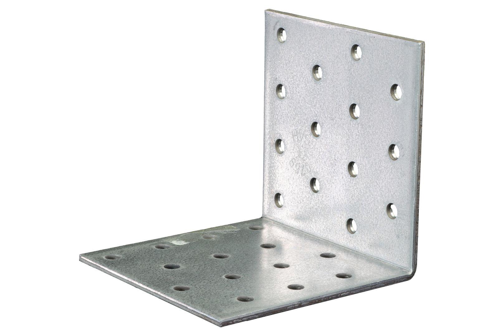 GAH Lochplattenwinkel, Winkelverbinder, sendzimirverzinkt, 80 x 80 x 80 mm, Stärke: 2,5 mm