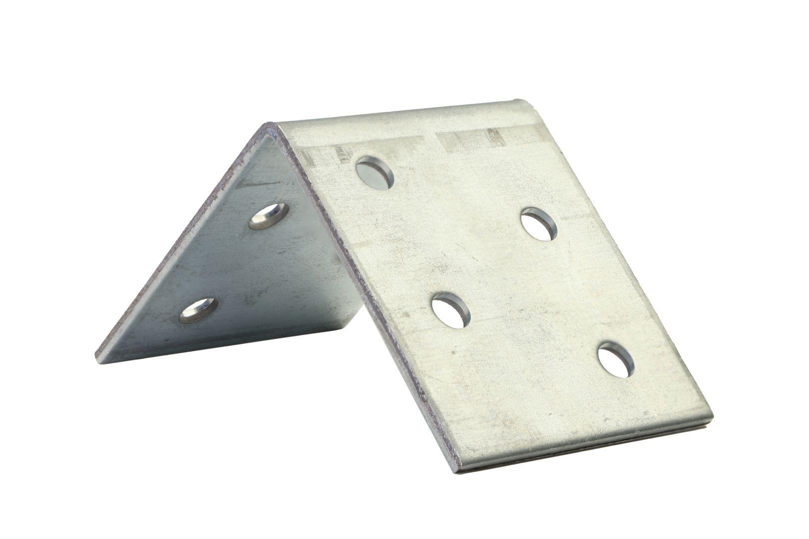 GAH Winkelverbinder, Lochplattenwinkel, sendzimirverzinkt, 50 x 50 x 40 mm, Stärke: 2 mm