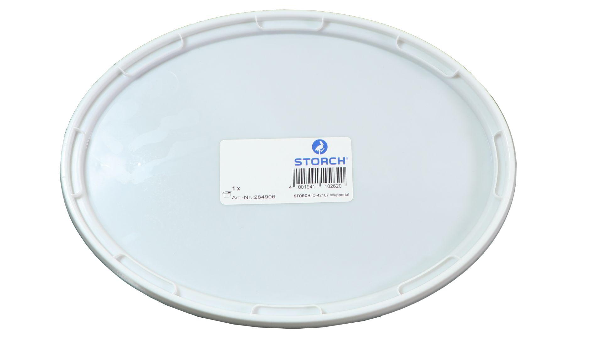 STORCH Deckel für Farbeimer, oval, 5 l, Kunststoff, weiß