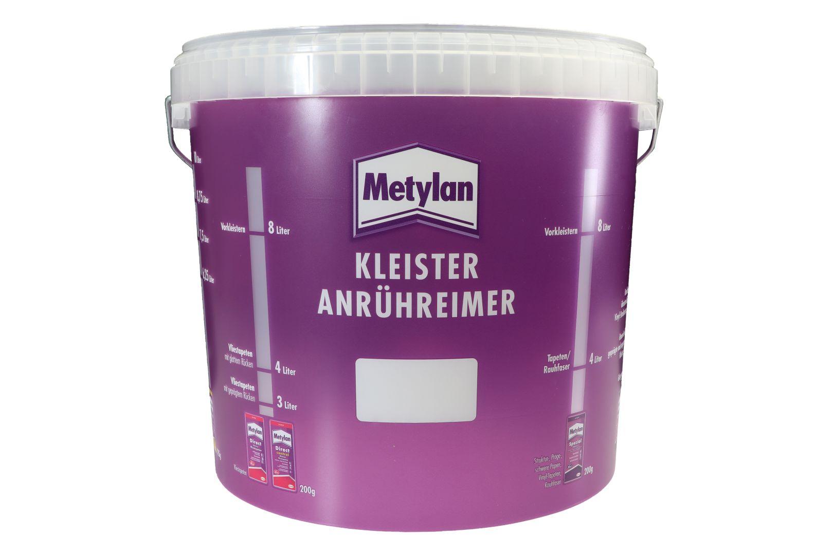 Metylan Tapeziereimer, Anrühreimer, Kunststoff, transparent, rund, 10 l