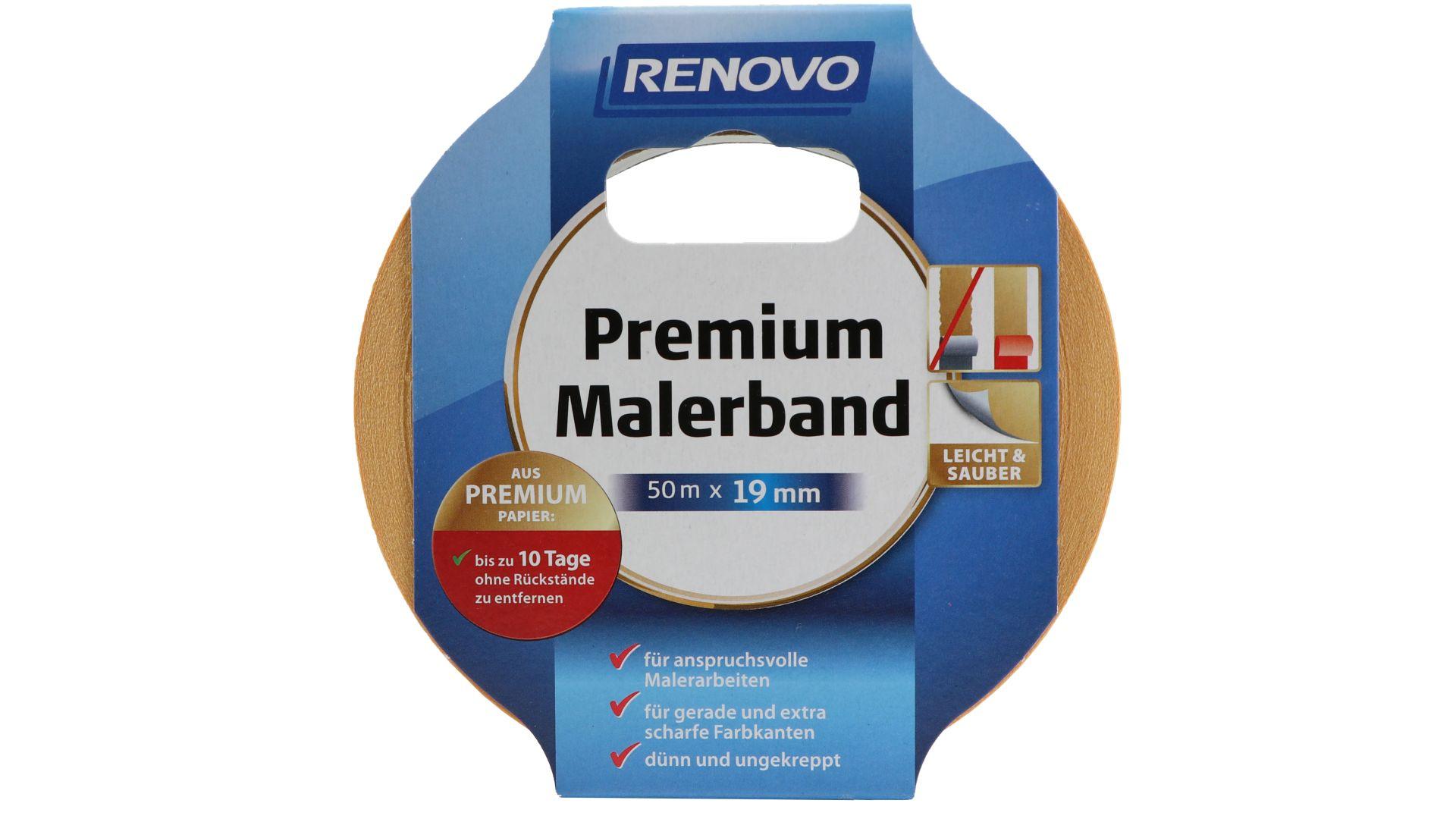 RENOVO Premium Malerband, 50 m x 19 mm