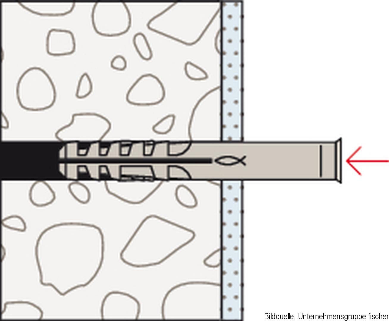 fischer GS Gerüstöse, Gerüstschraube, 12 x 300 mm, 25-er Pack