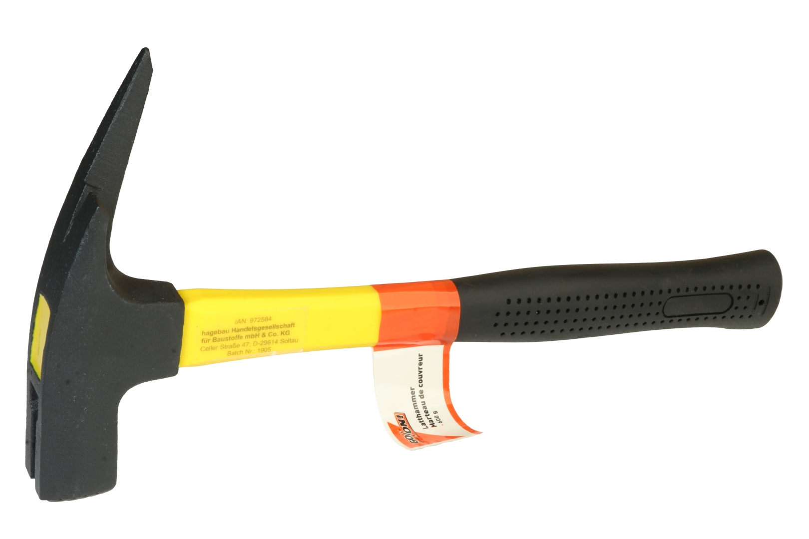 GO/ON Latthammer 600 g, schwarz lackiert