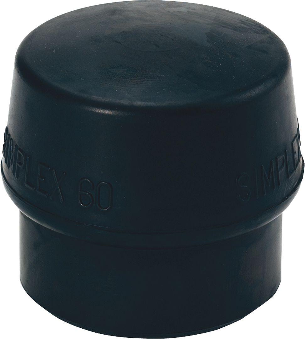 TRIUSO Gummikomposition, 80 mm, schwarz, Ersatz für Simplex Schonhammer