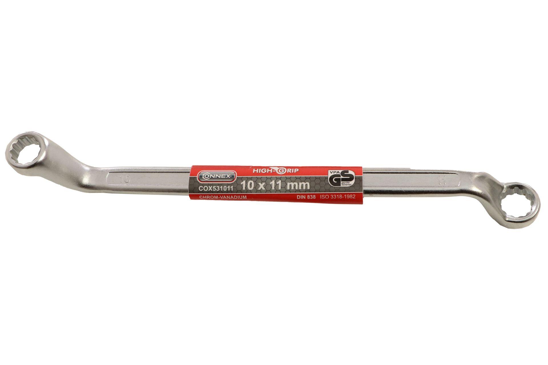 Conmetall Ringschlüssel, matt verchromt, 10 x 11 mm