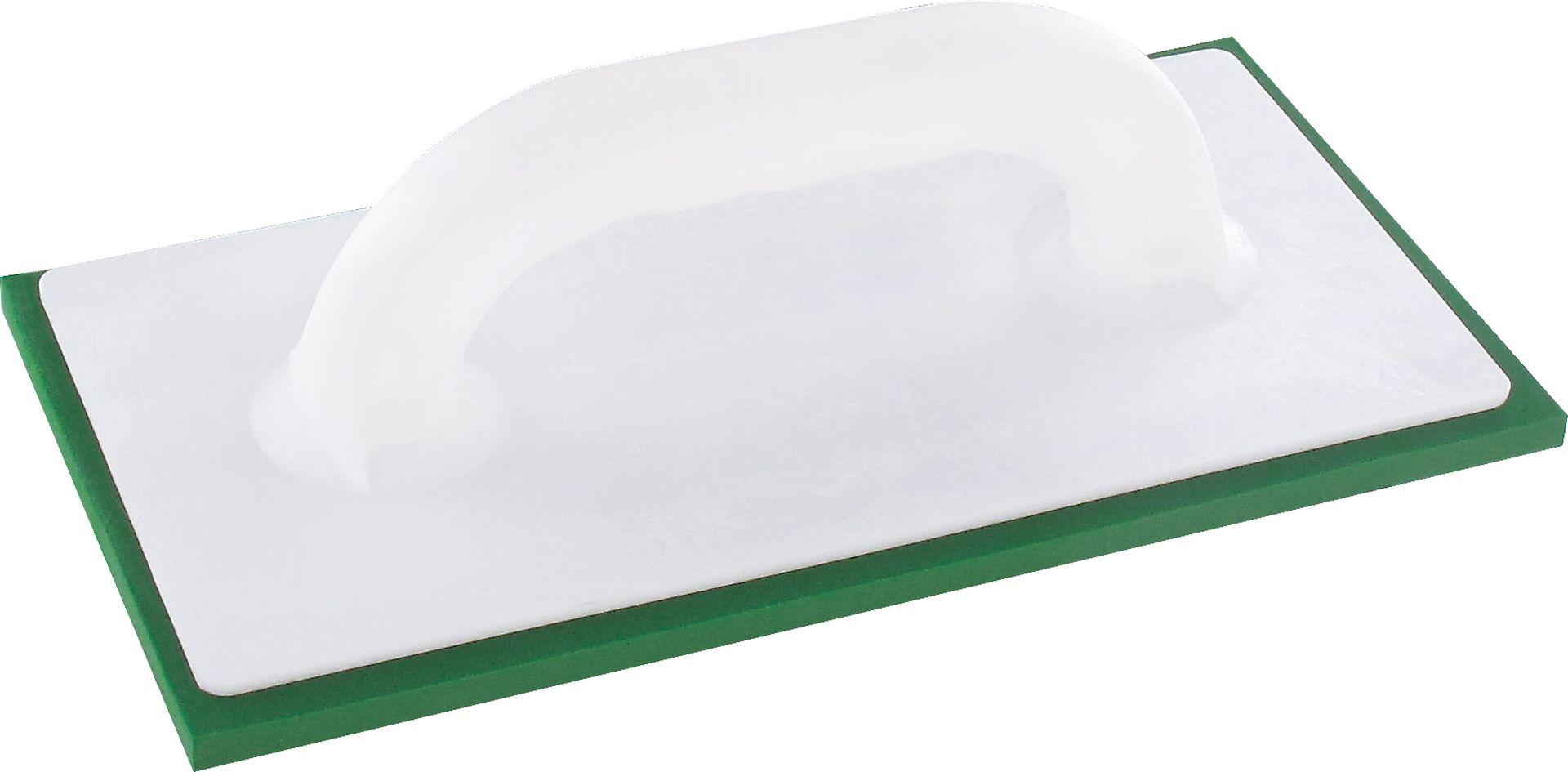 TRIUSO Kunststoff-Reibebrett mit 8 mm starkem grünem Belag, 140 x 280 mm