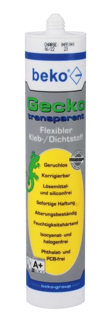 beko Gecko, flexibler 1K-Kleb-/Dichtstoff, transparent, 290 ml