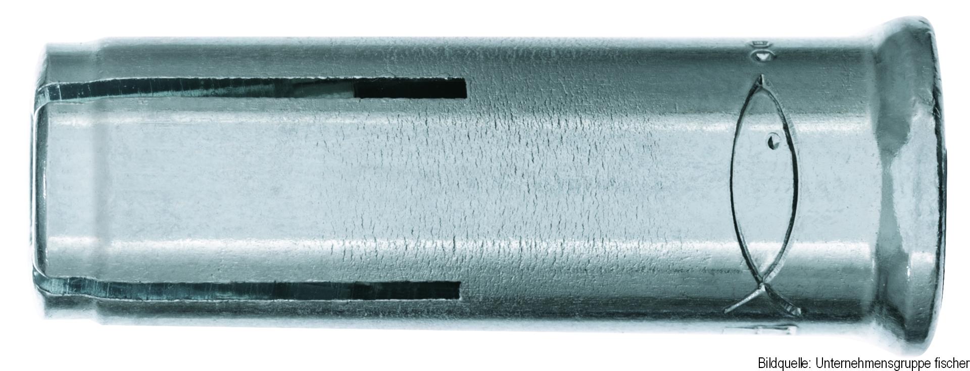 fischer Einschlaganker EA II M 12 x 50, Stahl, galvanisch verzinkt, 1 Stück