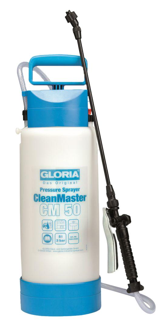 GLORIA Das Original Drucksprühgerät CleanMaster CM 50, max. Betriebsdruck 3 bar, Füllinhalt 5 l