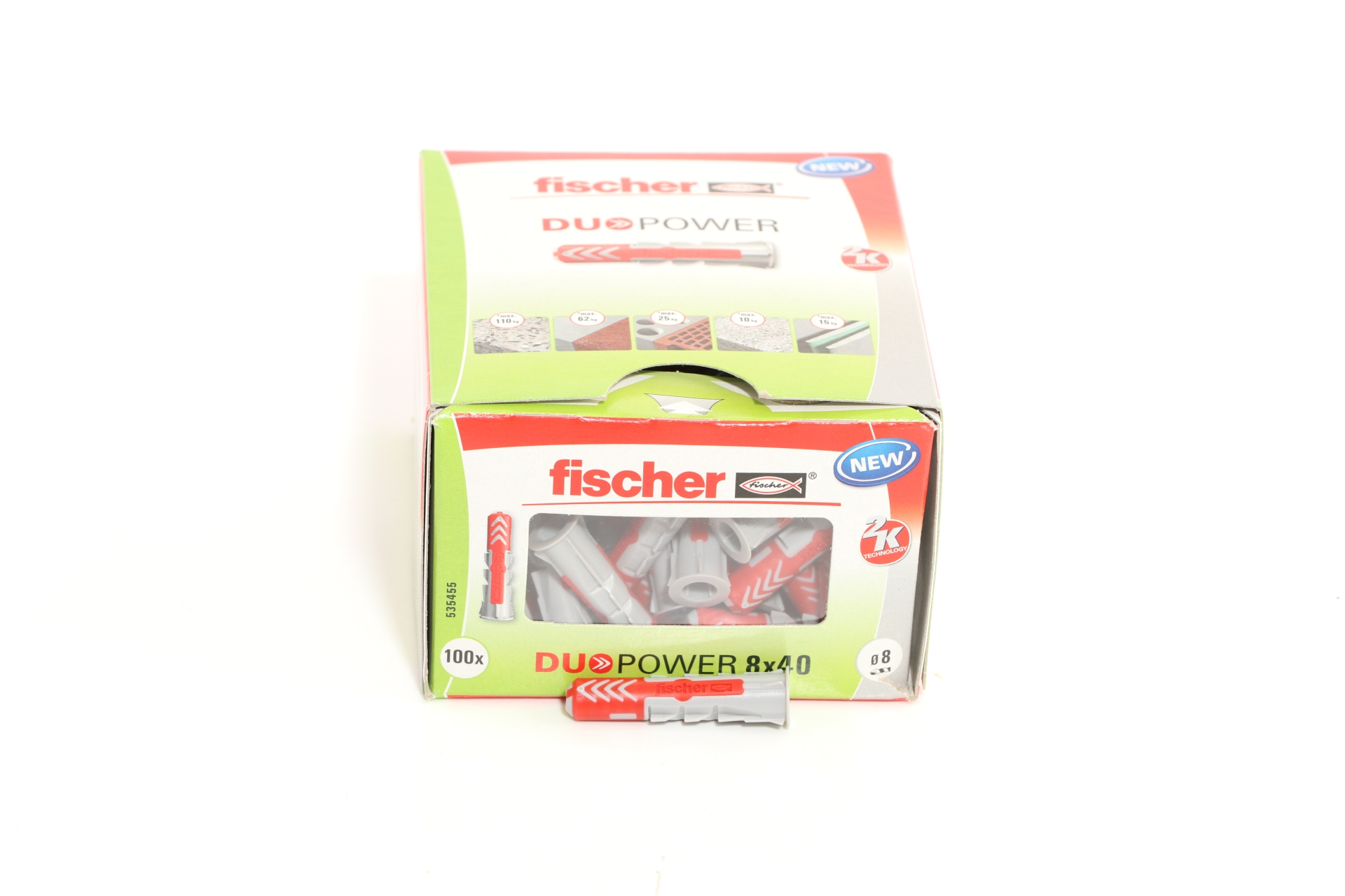fischer Allzweckdübel DUOPOWER 8 x 40, 100 Stück