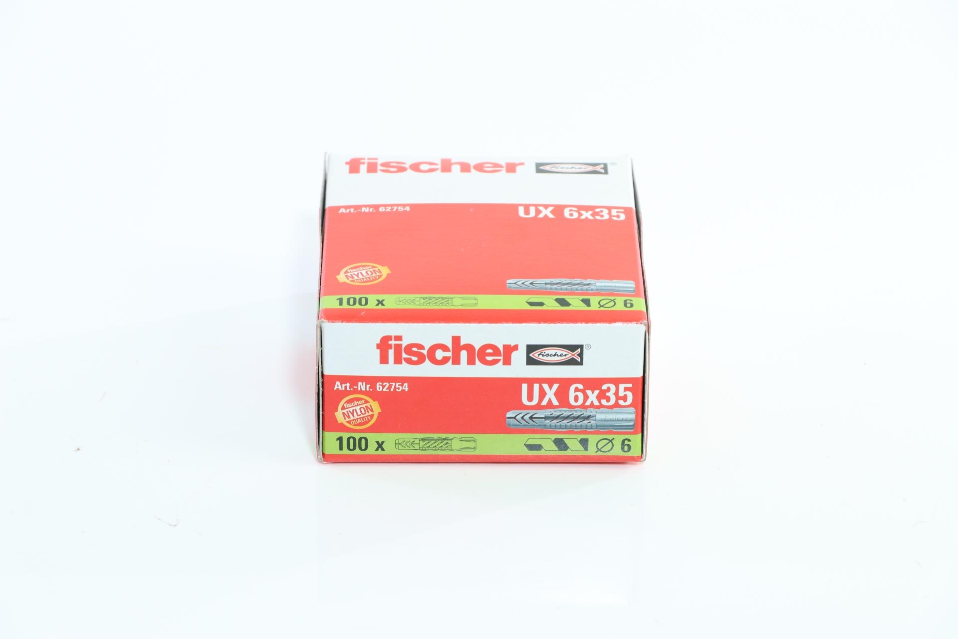 fischer Universaldübel UX 6 x 35, ohne Rand, 100 Stück
