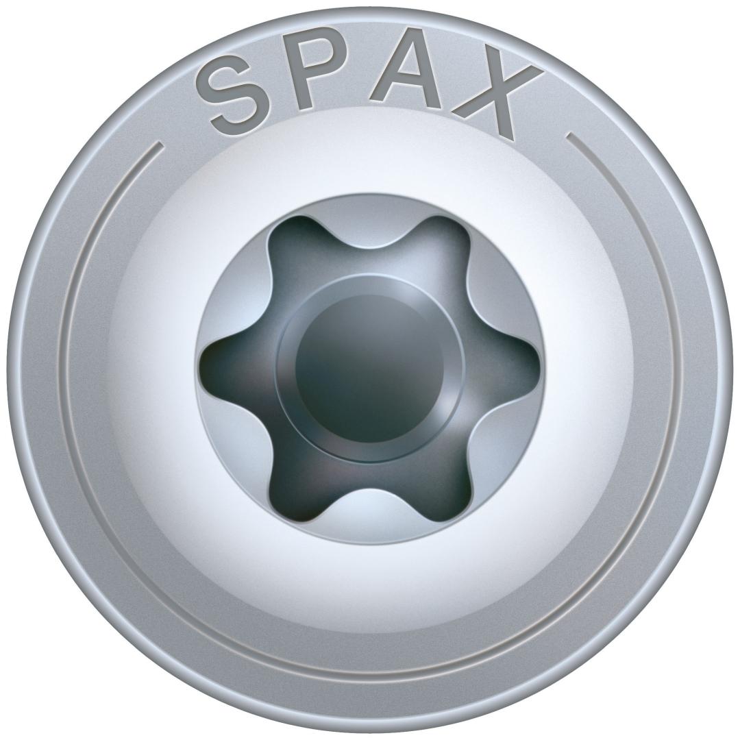 SPAX HI.FORCE, Holzbauschraube, Teilgewinde, Tellerkopf, T-STAR plus T40, 4CUT, WIROX, 8 x 320 mm, 50 Stück