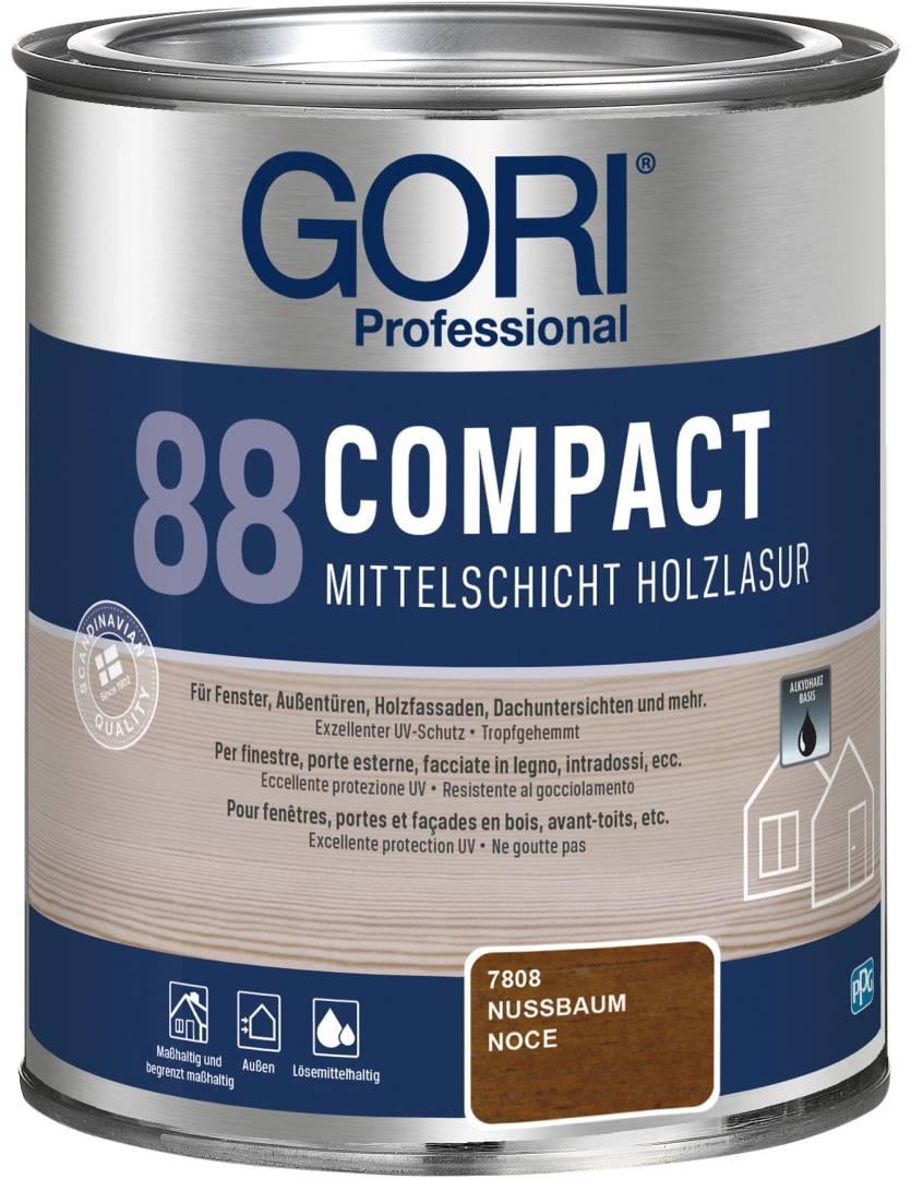 GORI Professional 88 COMPACT, Mittelschicht-Holzlasur, nussbaum, 0,75 l