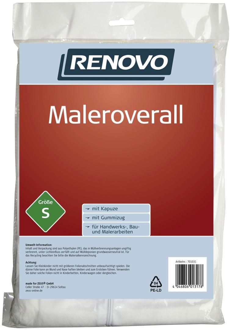 RENOVO Maleroverall, atmungsaktives Obermaterial, Größe S