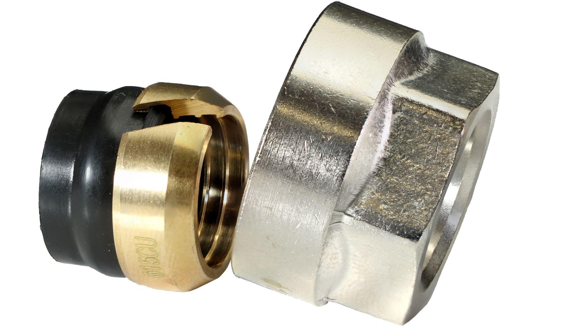 Marley DreMa (TW) Euro-Adapter für 15 mm Kupferrohr (Nr. 24), 3/4 Zoll Innengewinde Euro-Konus