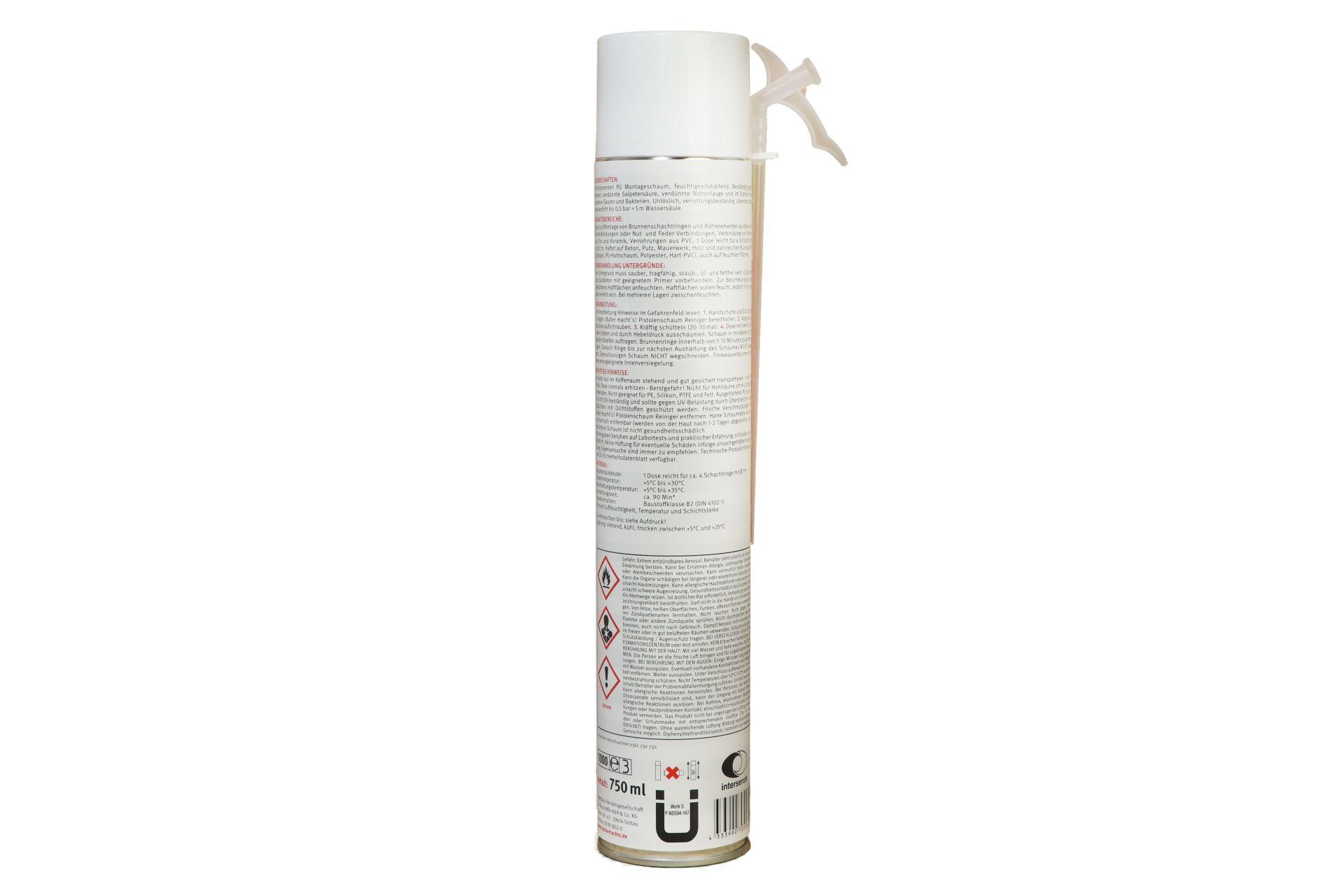 Butler macht's! 1K Schacht-/Brunnenschaum, B2-Qualität, 750 ml Dose