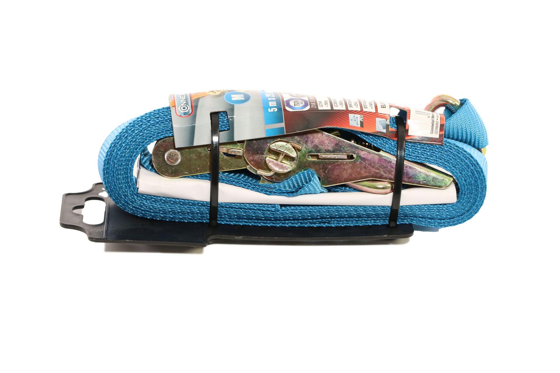 CONNEX Zurrgurt mit Ratsche und Haken, 5 m x 25 mm, bis 500 kg