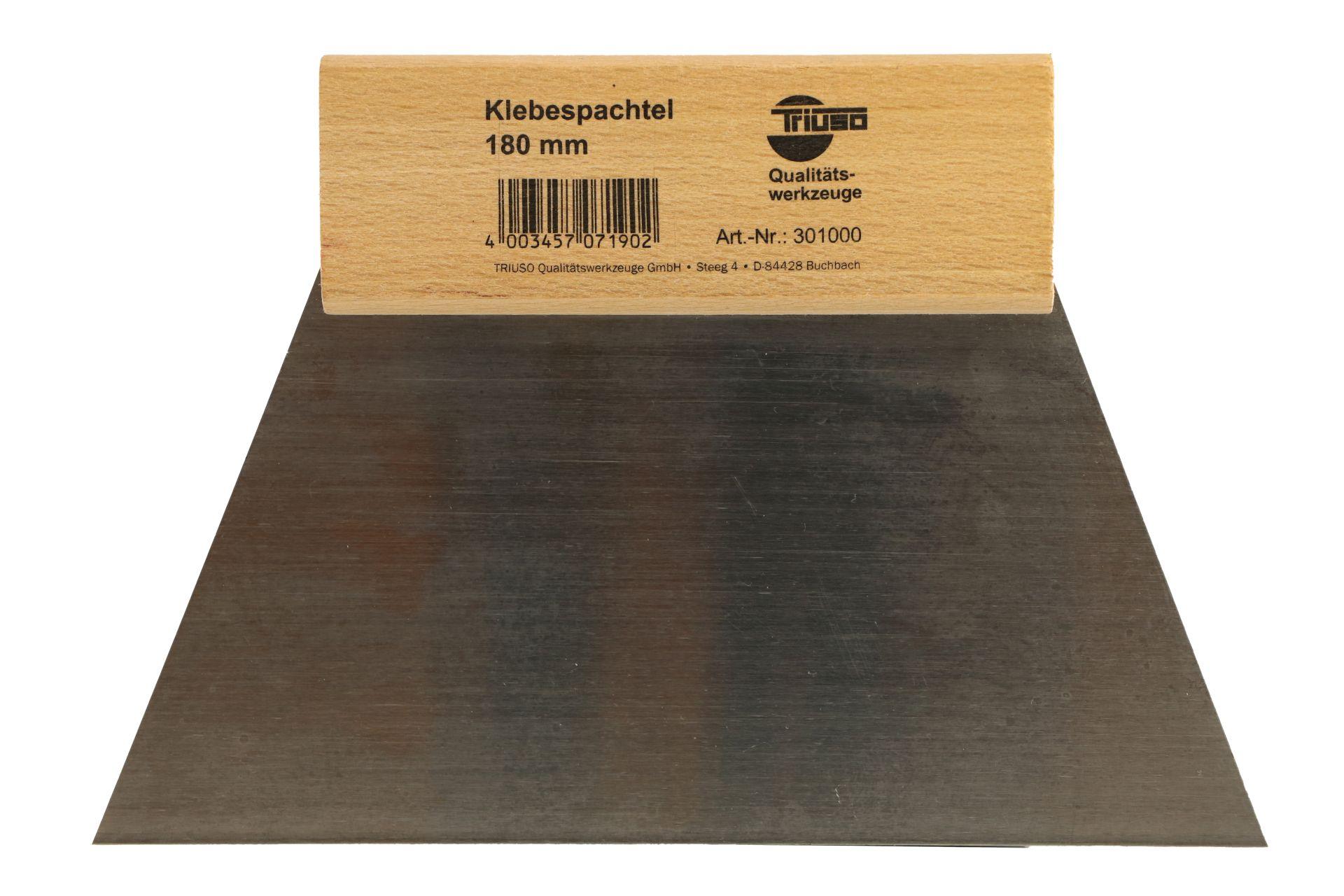 TRIUSO Klebespachtel/Glättespachtel mit Naturholzheft, ungezahnt, 180 mm