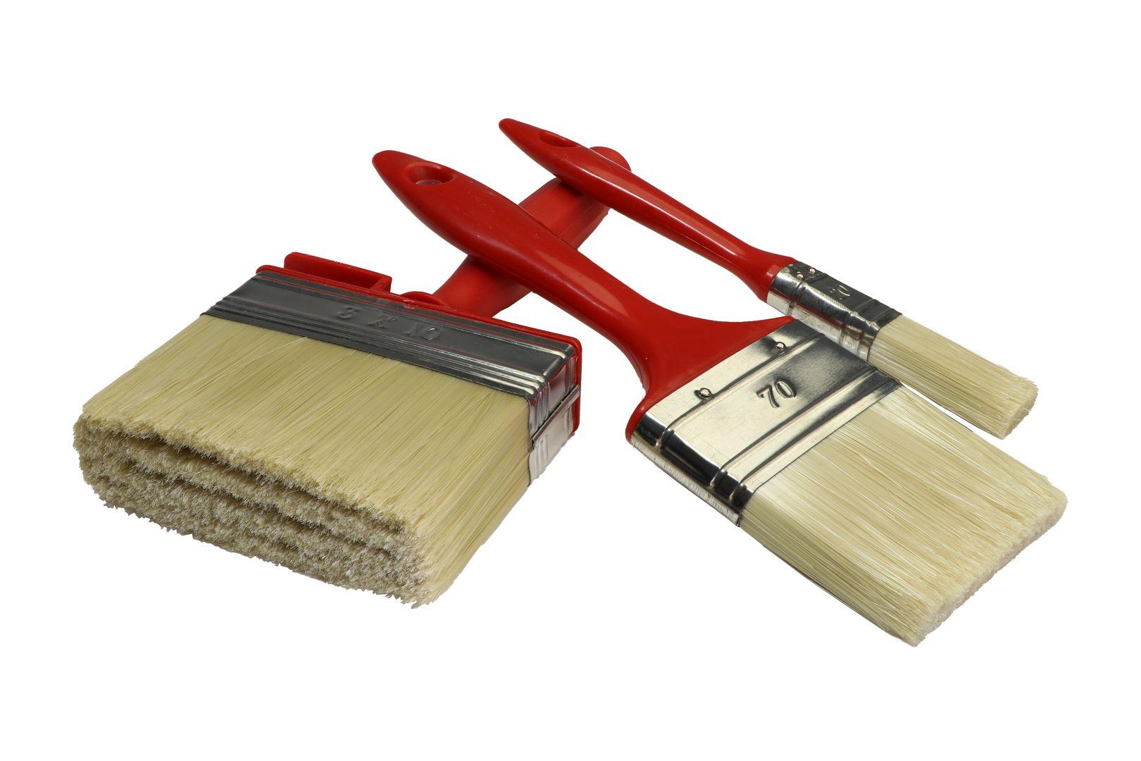 GO/ON Lasurenpinsel Set IP, für Lasur und Lackierung von Holz, 1 x 20 mm, 1 x 70 mm, 1 x 100 mm, 3-teilig