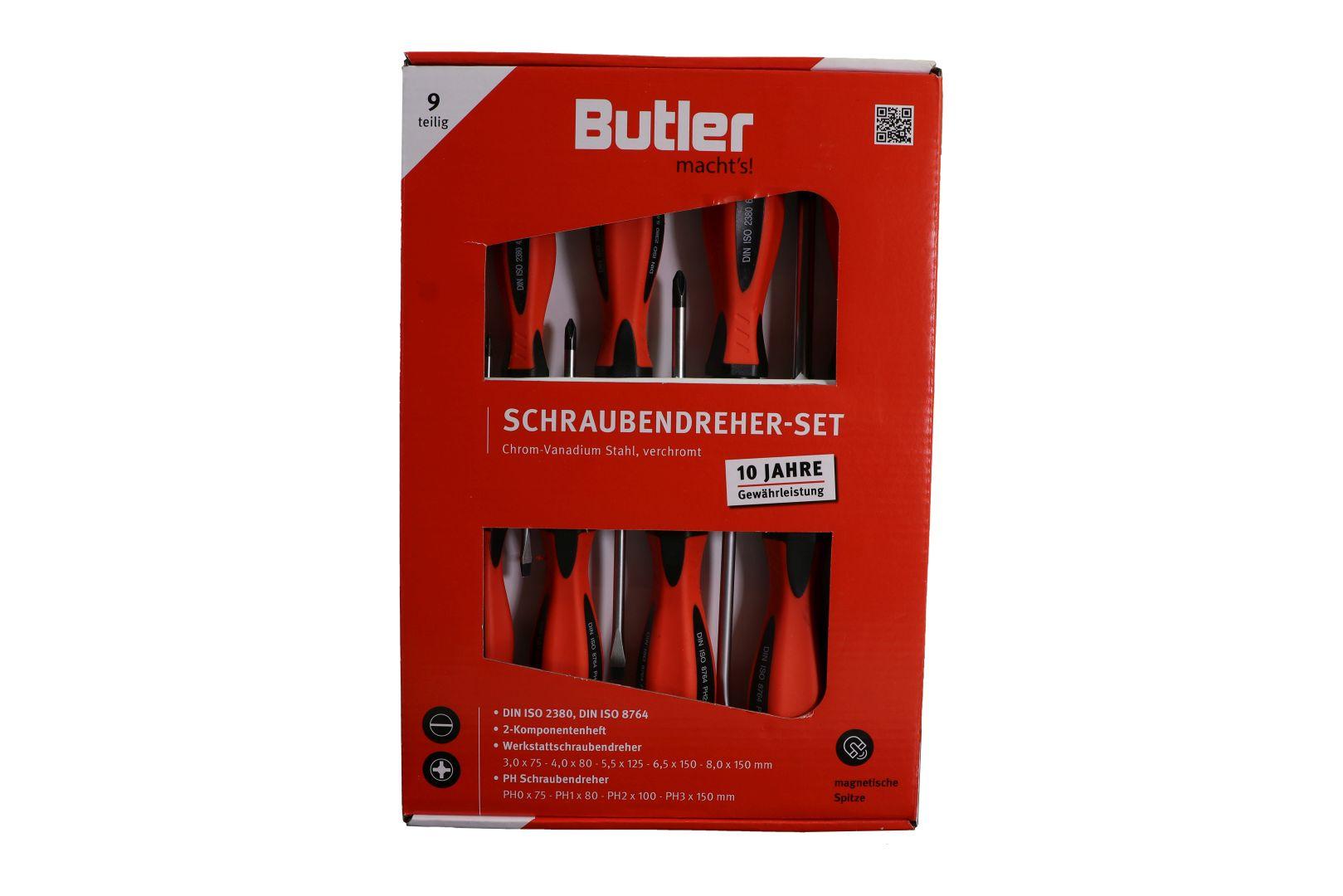 Butler macht's! Schraubendreher-Garnitur, 9-teilig