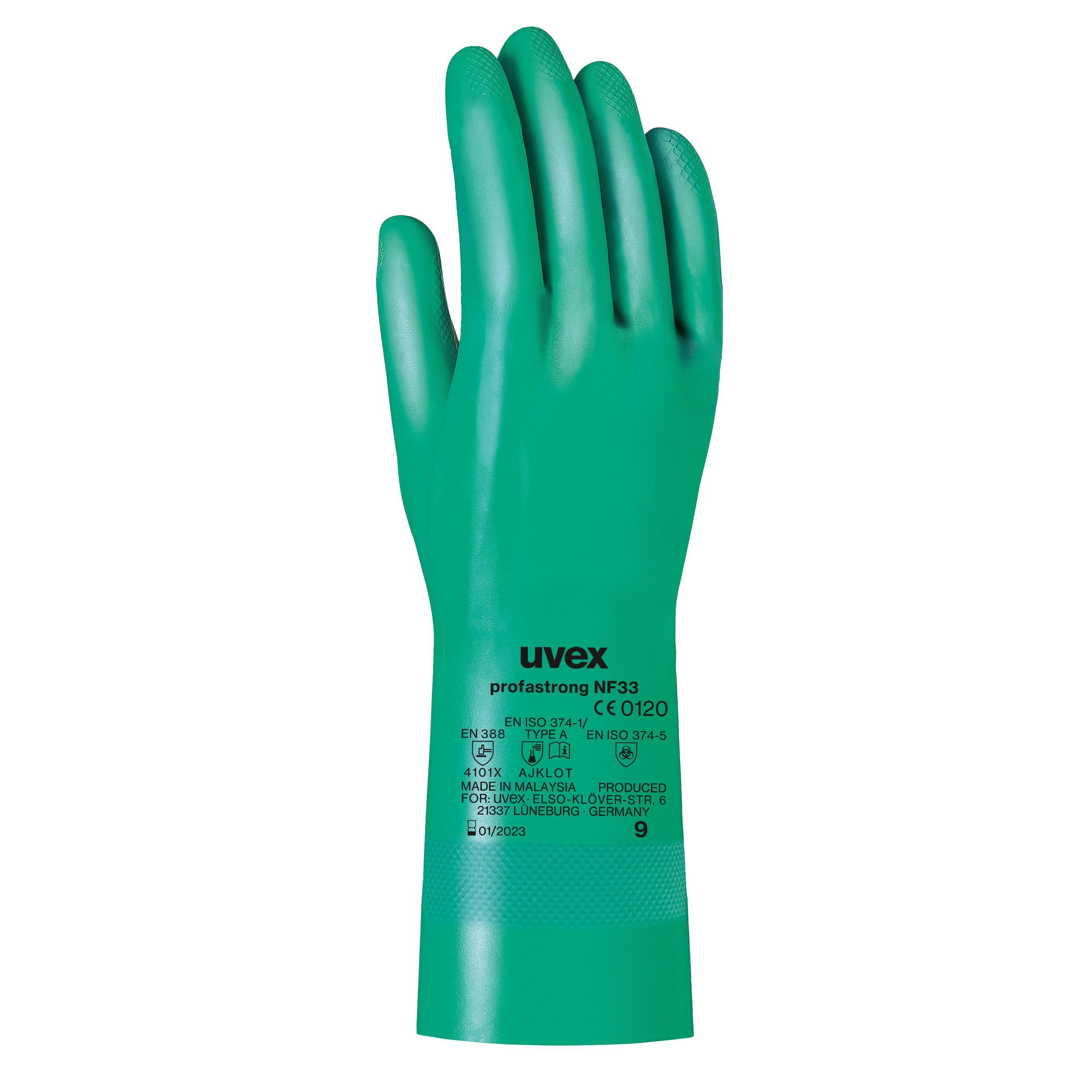uvex profastrong NF33 Chemikalienschutzhandschuhe, Größe 10